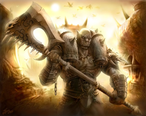 Darn great image of Garrosh via http://titan-creative.net/garrosh-hellscream